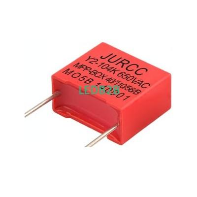 Y2-650VAC metallized film box cap