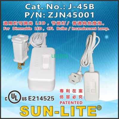 SLIDE FULL-DIMMER SWITCH WITH COR