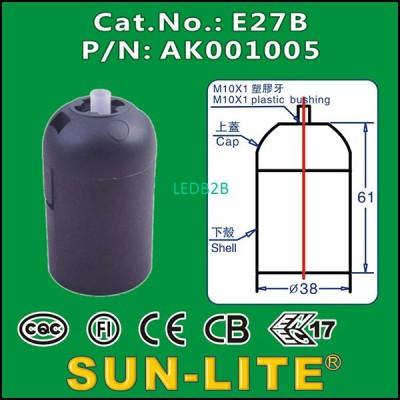 E27 PLASTIC LAMPHOLDER E27B