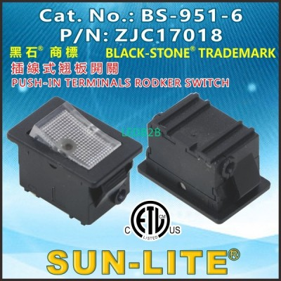 PUSH-IN TERMINALS ROCKER SWITCHES