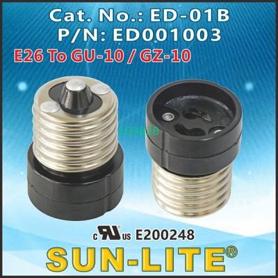 LAMPHOLDER ADAPTER E26 TO GU10 (