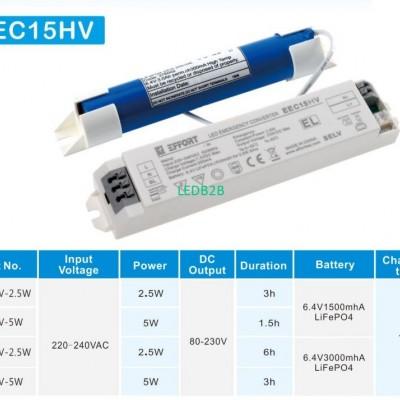 Emergency converter for LED Tube