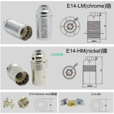 ENEC E14-LM threaded metal lamp h
