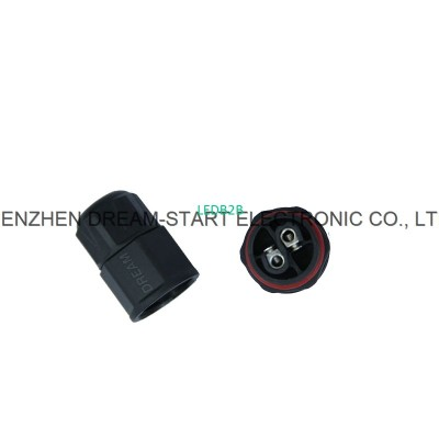 3pin waterproof cable connector m
