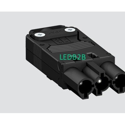 EPN1104 20A 250V 3P MALE BLACK