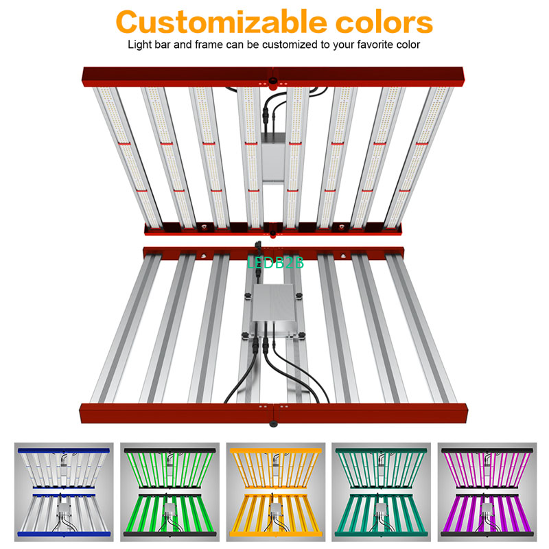 Customizable colors for Samsung 301h 301b Full Spectrum High PPFD Dimmable LED Grow Light