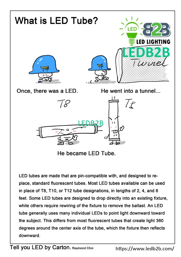 What is LED Tube,Tell you LED by Cartoon