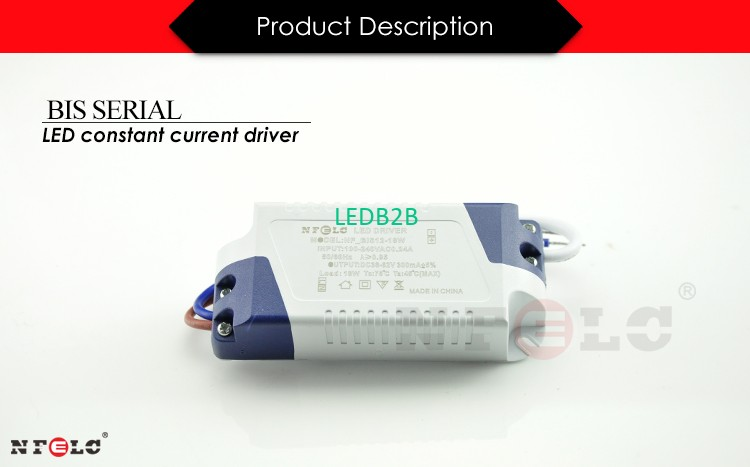 12-18w 300mA 220v AC to DC 36v hpf no flicker india bis approve power supply co<i></i>nstant current surge protection led driver 18w