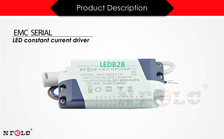 EMC universal 36W LED Driver 900mA power supply