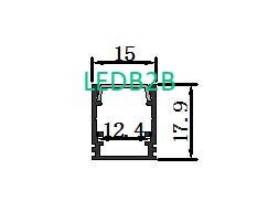 LS-011 High Quality 6063 Aluminum LED Profile Channel Extrusion For LED Display Ado<i></i>nized LED Profiles