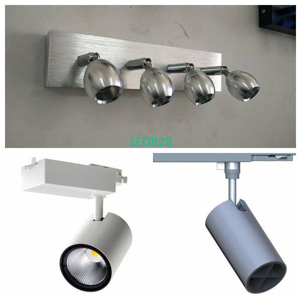 M10 thread swivel joint for lighting system,330 degree universal joint for led light,display window light